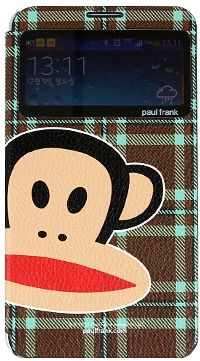 For Samsung Paul Frank CheckWindow Brown