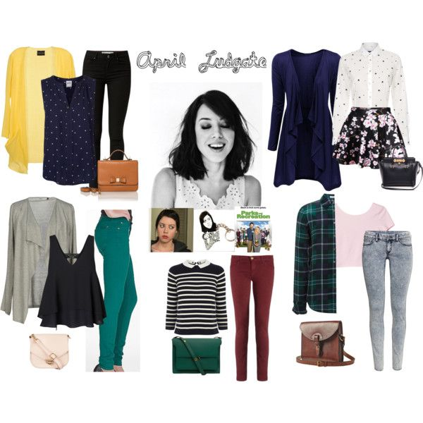 April Ludgate Inspired Outfits by xxcheckeredknightxx on Polyvore featuring Doublju, ONLY, Mauro Gasperi, Vero Moda, Equipment, Paul Smith, Oasis, Monki, 7 For All Mankind and H&M