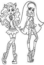 coloring page clawdeen cleo
