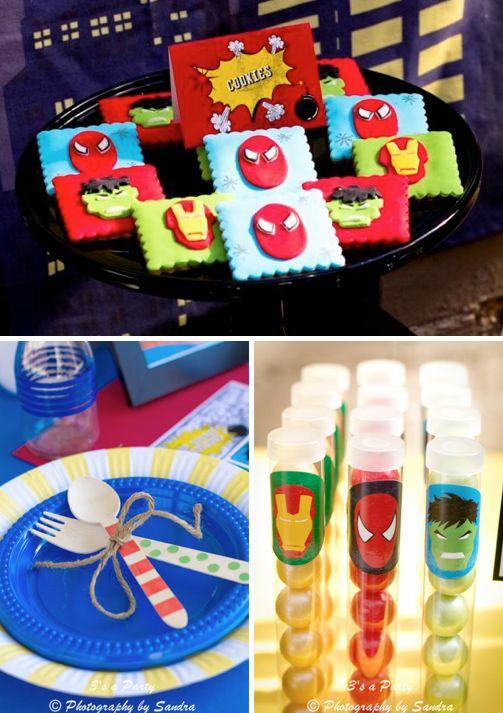 Superhero Super Hero Avengers Themed Birthday Party via Kara's Party Ideas - www.KarasPartyIdeas.com