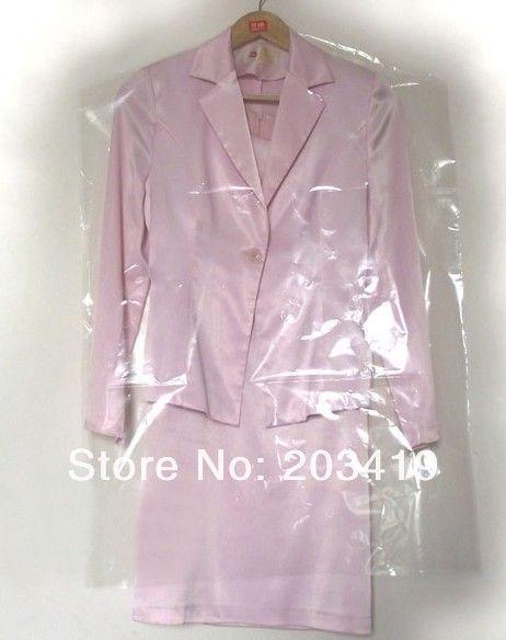 Одноразовые складные пластиковые ясно, сумка для хранения коробка случай органайзер для костюма одежды пальто гнездо пальто ветра оптовая