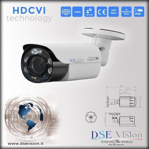 DS-VMHD20MP Telecamera a colori bullet varifocale motorizzata 2.8/8mm IR impermeabile