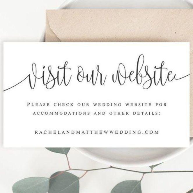 Wedding Website Card Insert Template Visit Our Website Card Template Rustic Website Insert Details Wedding Website Card Wedding Website Wording Wedding Website
