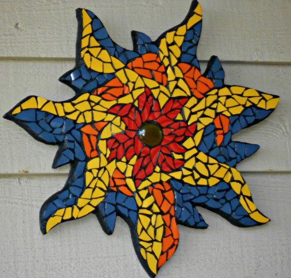Starfire Mosaic Garden Wall Hanging via Etsy
