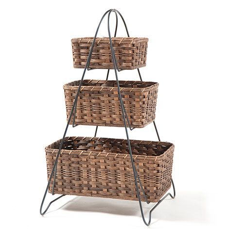 Wrought Iron Basket Stand With Baskets New House Decor