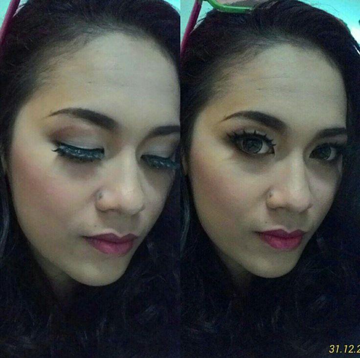New year makeup 🎆