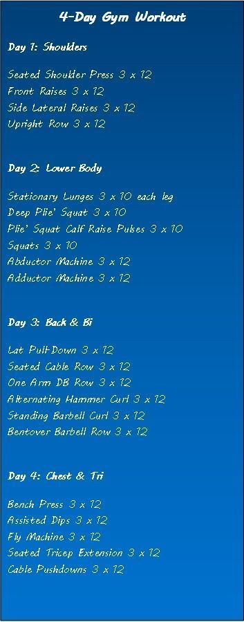 balanced gym workout routine for women to lose weight