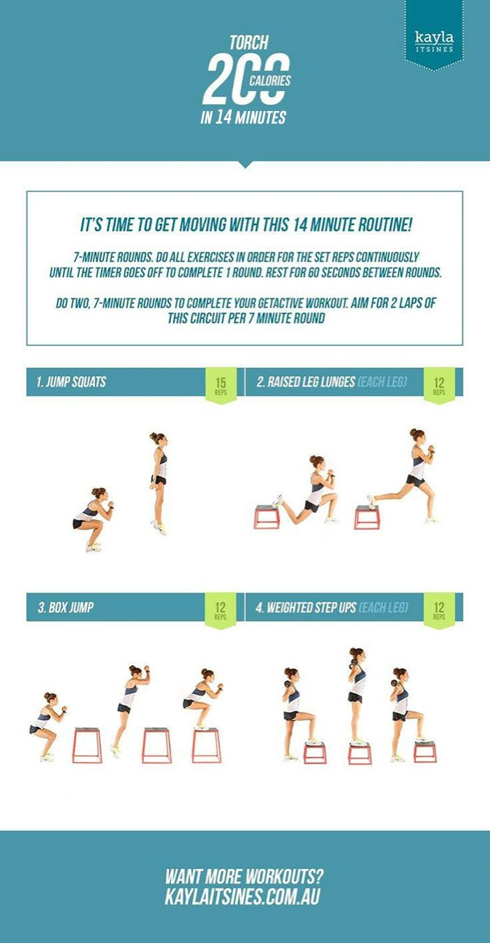 @kaylaitsines' 14-Minute Workout That Will Torch 200 Calories: http://www.livestrong.com/blog/kayla-itsines-14-minute-workout-will-torch-200-calories