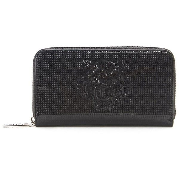 KENZO Fabric Continental Zip Around Wallet (2.774.170 IDR) ❤ liked on Polyvore featuring bags, wallets, kenzo bag, kenzo, kenzo wallet and zip-around wallets