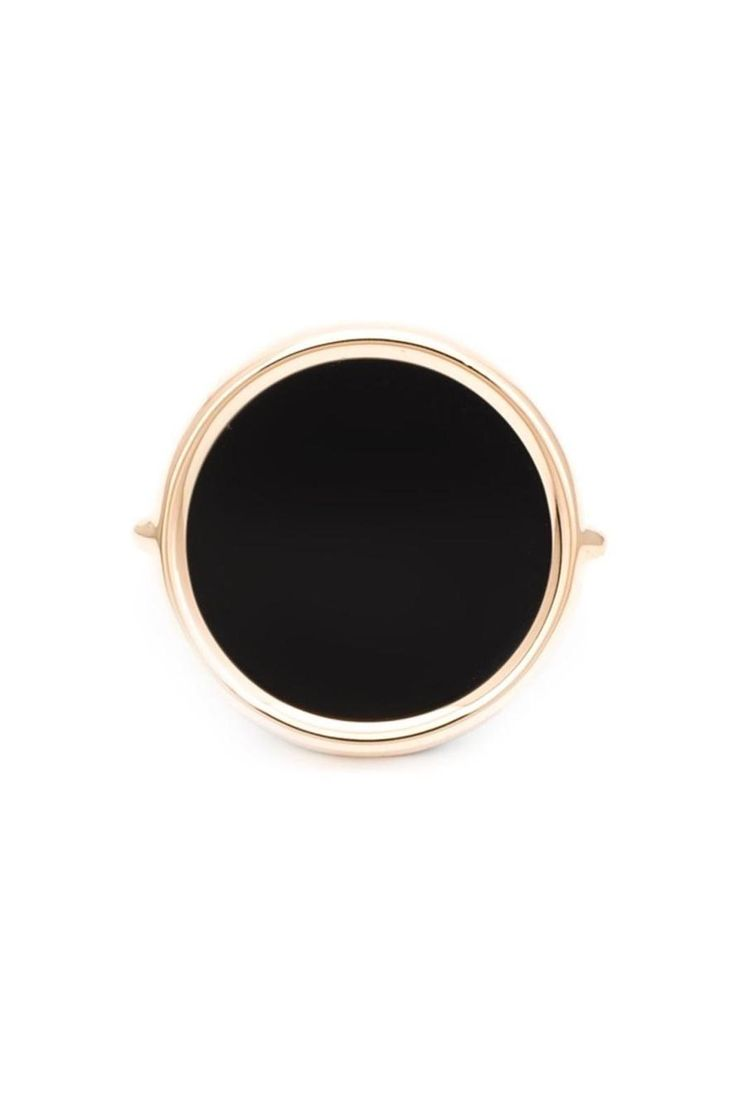18kt rose gold black onyx stone ring. Disc ringsuse an upside down setting so the stone is in direct contact with your skin. Benefit from the healing powers of the stone.   Black Onyx Ring by Ginette NY. Accessories - Jewelry - Rings Toronto, Canada