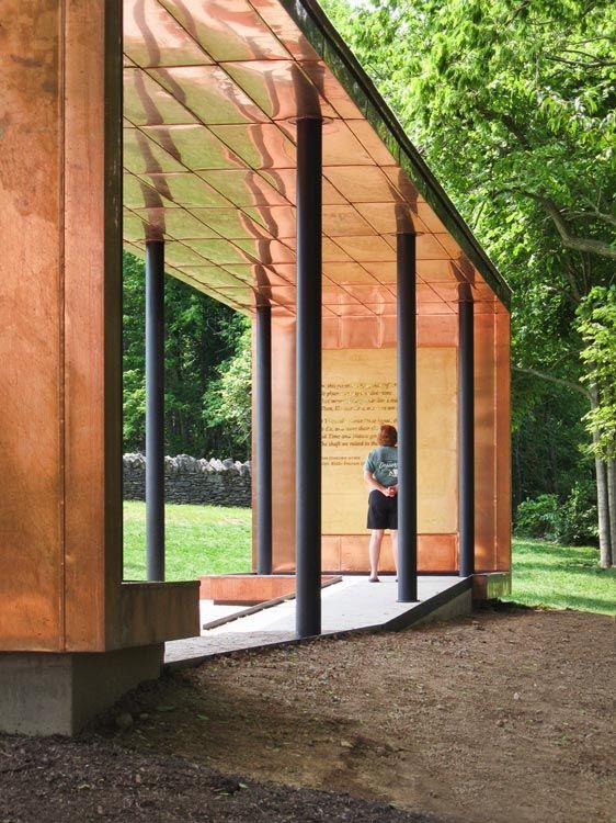 PAM - metalen luifel - Dublin Grounds of Remembrance, Dublin, ohio, Unite States - PLANT architect