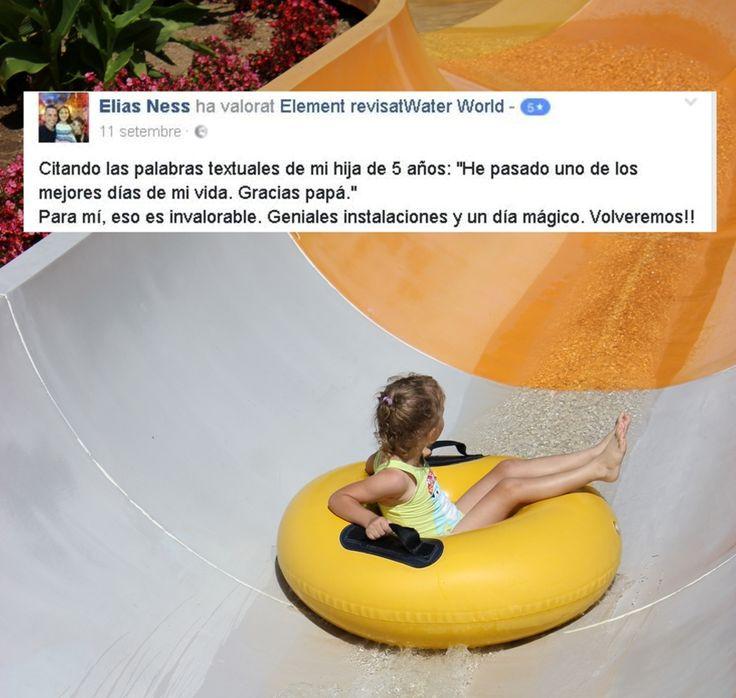 Hi ha algunes opinions que ens deixen simplement sense paraules... Moltes gràcies!  #waterworldlloret #waterpark #LloretdeMar #viulloret #costabrava