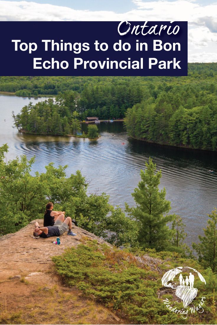 Bon Echo Provincial Park in Cloyne, Ontario, Canada is an adventure lover's paradise. Some of the available activities include hiking, rock climbing, paddle boarding, canoeing, and boating.