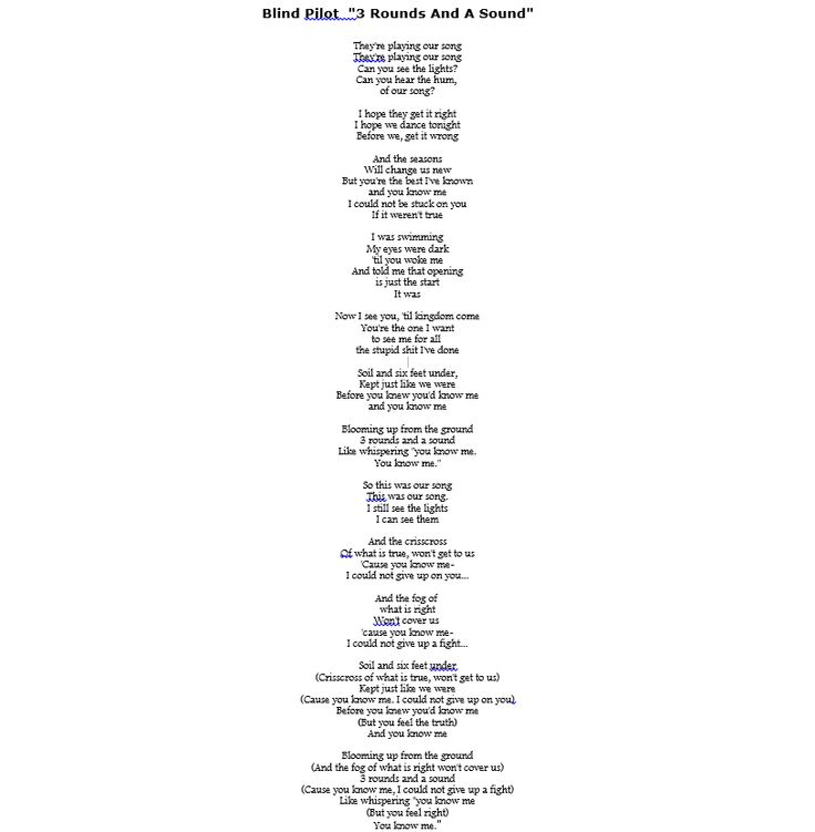22 best Lyrics To Some Of My Favorite Songs & Links To The Song ...