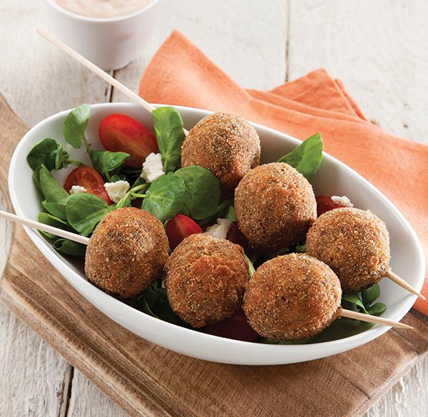 A great serving idea! Skewer Lentil Balls onto wooden skewers. http://www.spur.co.za/sauces/recipes/lentil-balls