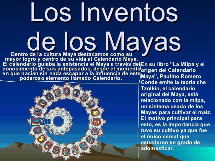 LOS INVENTOS DE LOS MAYAS (slideshare)