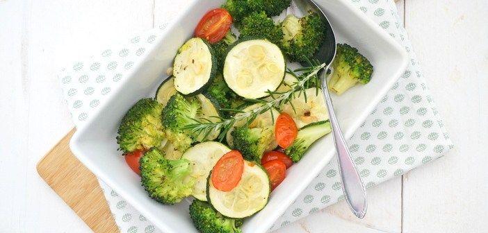 Gegrilde broccoli met courgette