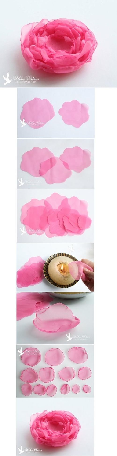 DIY Peonies Flowers- Would love to try something like this and then hang it on our white lights or something.