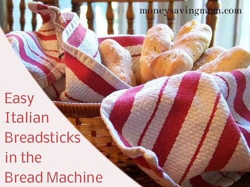 Easy Italian Breadsticks in the Bread Machine | Money Saving Mom®