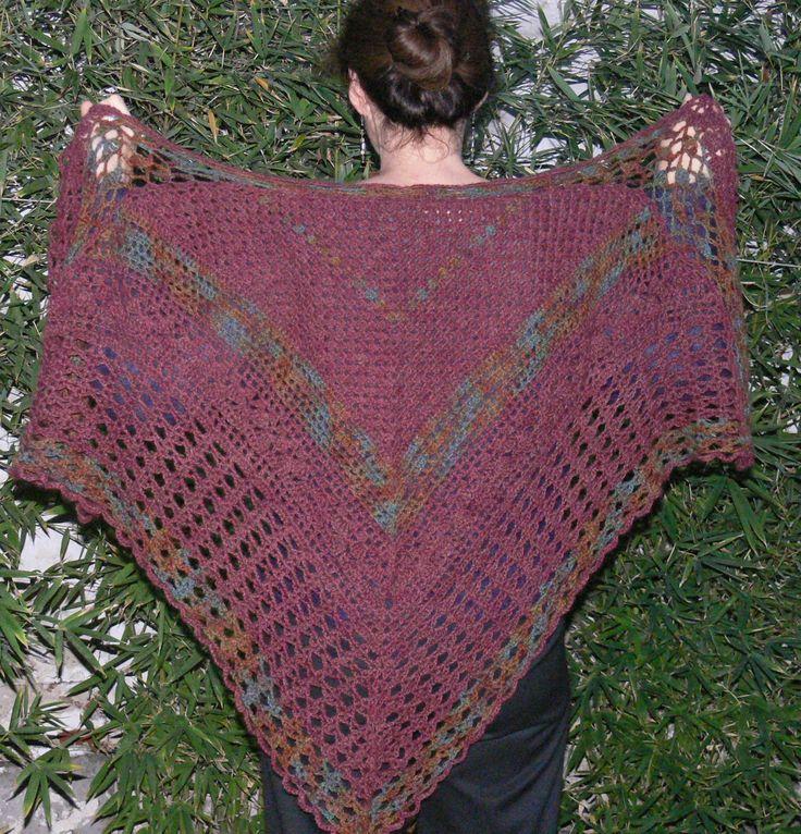 crochet shawl, own creation