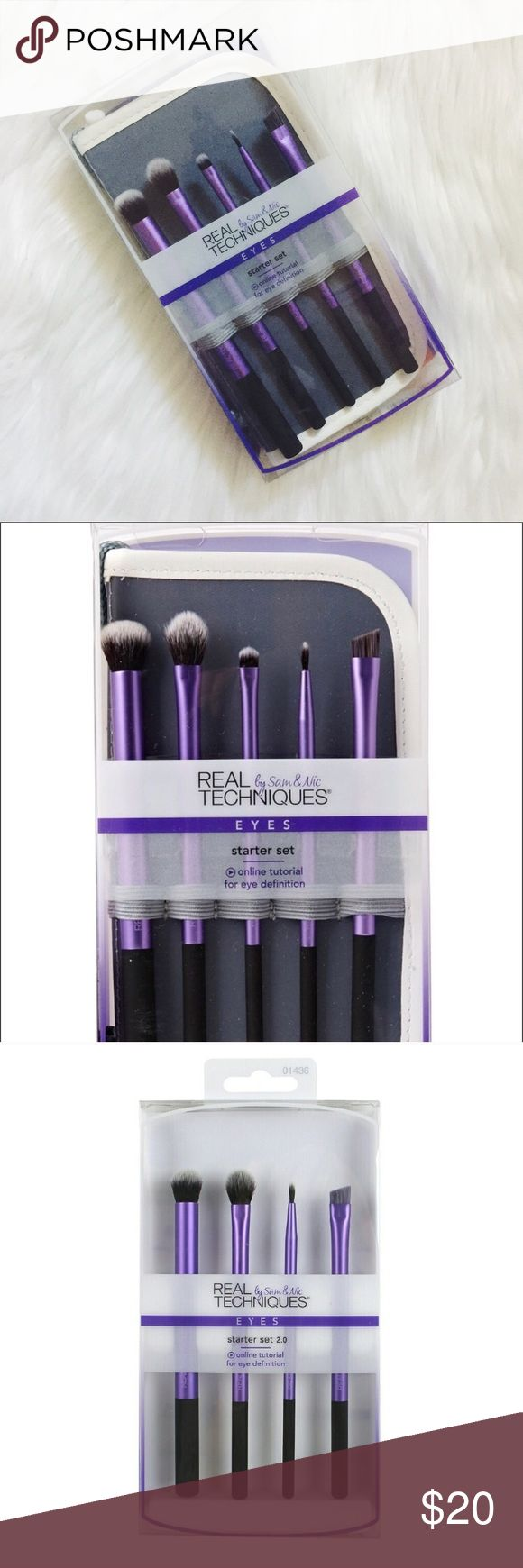 🆕 | Real Techniques Brush Set ✖️ BNIB Real Techniques  Brush Set  ✖️ Eyeshadow Brush Set  ✖️ Eyebrow Brush Set  ✖️ 5 Pieces Total  ✖️ Comes w/ Protective Case ✖️ 15% Off 2 Items Or More Sephora Makeup Brushes & Tools