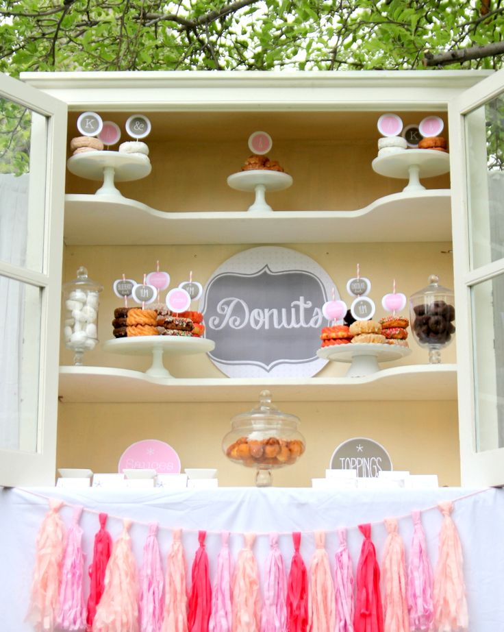 Pink Donut Bar Party StationsFood StationsDrink StationsParty Ideas