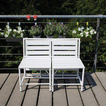 Esschert Design Magische Klappbank weiß | design3000.de