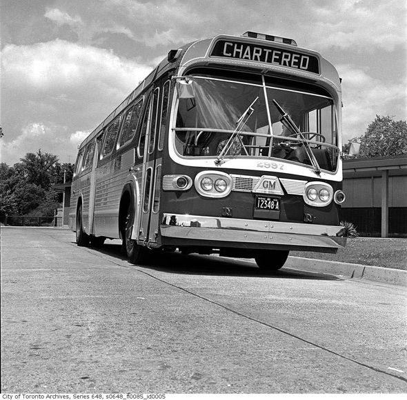 1960s Bus in Toronto at Rosedale Station