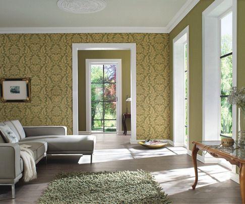 Papel Pintado Rasch Trianon 513646. Estilo por menos de 40 EUROS. Fantásticos para decorar salones y comedores con toques clásicos y de diseño. Papeles pintados para pared clásicos y con damascos.