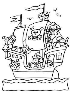 Piraat - Piratenschip - Knutselpagina.nl - knutselen, knutselen en nog eens knutselen.