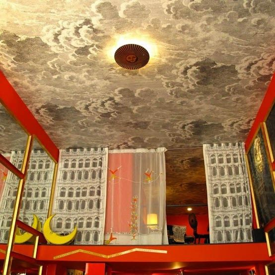 Decorators Best Whimsical Interior Design Cole And Son Fornasetti Nuvolette  Wallpaper