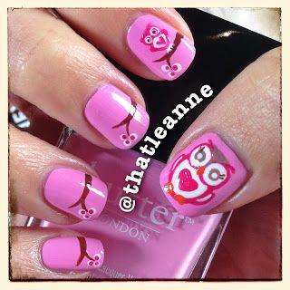 thatleanne: Owl love you forever - cute owl nail art!