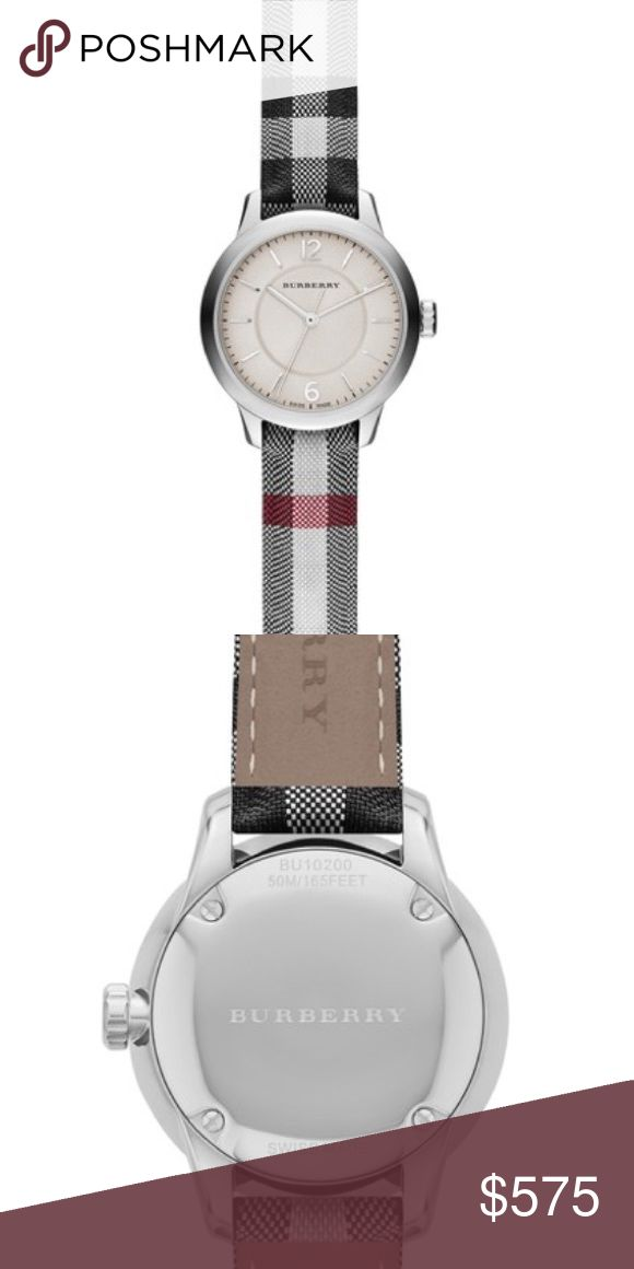 New Burberry Classic Check Fabric Strap Watch Brand New Burberry Women's Classic Round Check Fabric Strap Watch. NWT and box. Offers welcomed. Burberry Accessories Watches