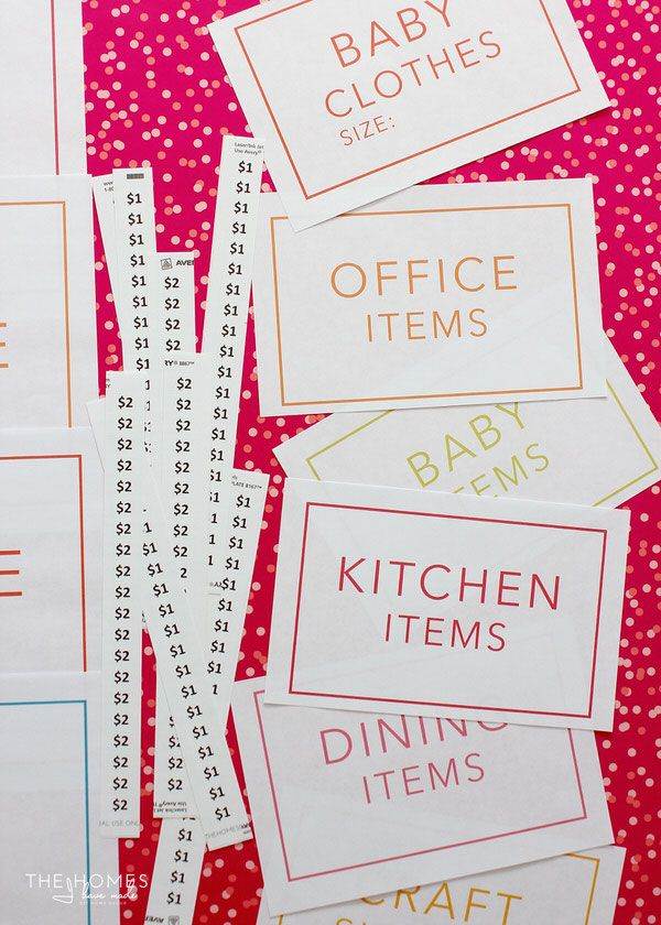 The Ultimate Garage Sale Prep Kit (a FREE printable!) | The Homes ...