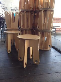 Cafe round tiny stools chairs seating funky warehouse  | Chairs | Gumtree Australia Melbourne City - Melbourne CBD | 1046243124 14 left