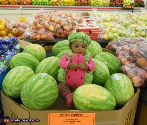Cute Lil' Watermelon - Homemade costumes for babies
