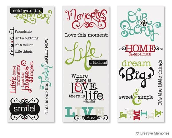 Enchanted Title Stickers from Creative Memories  #scrapbooking    www.creativememor...