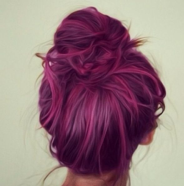 Hair color. :) If I could do this to my hair and get away with it at work...WOULD SO DO IT!!!