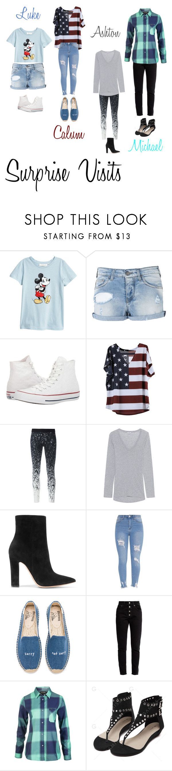 """""""5sos Preference {3}"""" by saragruver76 ❤ liked on Polyvore featuring Armani Jeans, Converse, Reebok, Splendid, Gianvito Rossi, Soludos, Balenciaga and Dakine"""