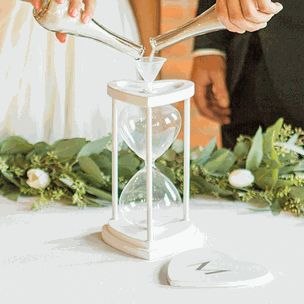 Personalized Sand Ceremony Hourglass Set