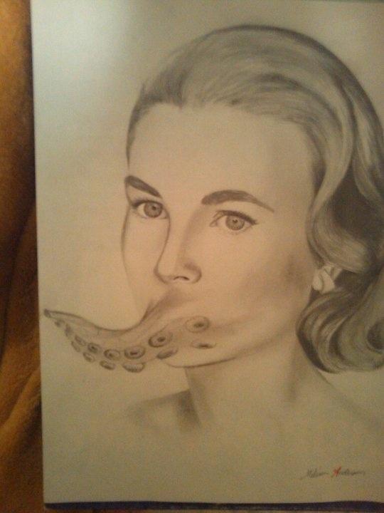 Grace Kelly in Pencil