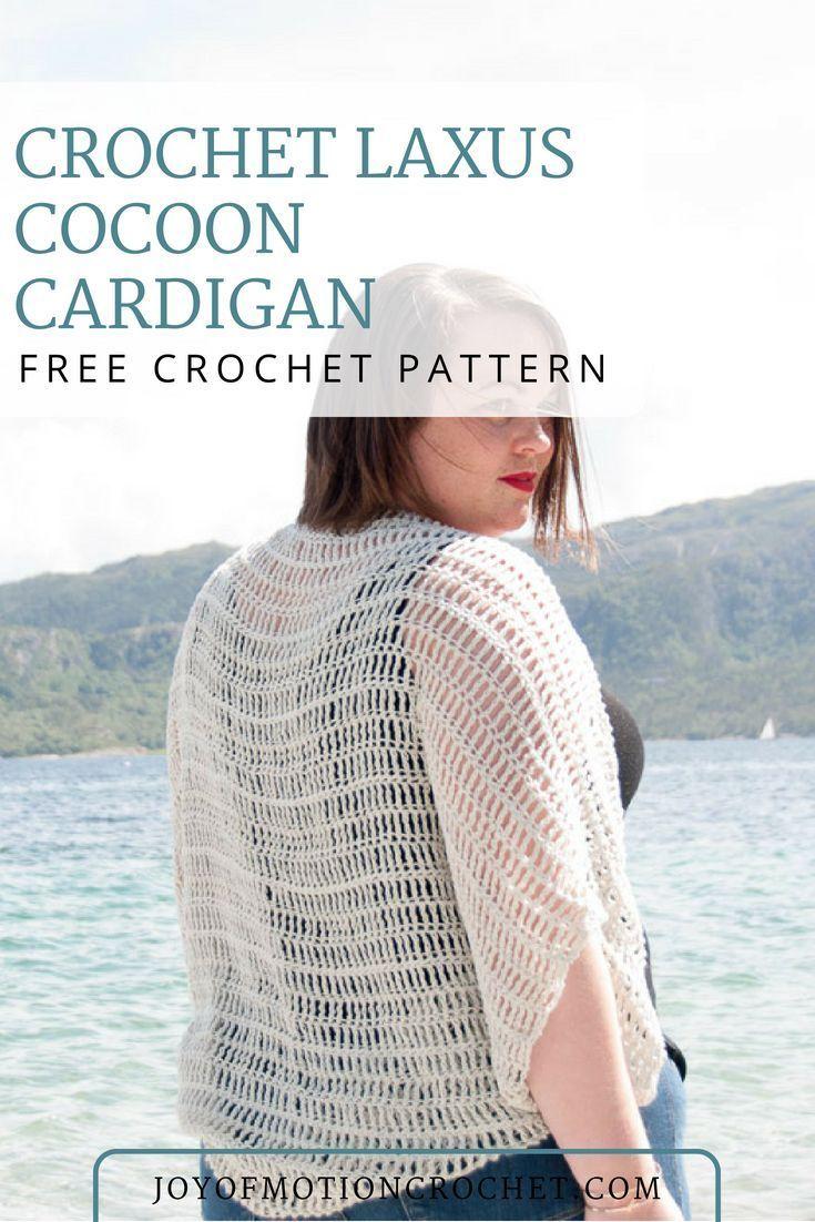 FREE Crochet Pattern - Crochet Laxus Cocoon Cardigan | ELK Studio ...