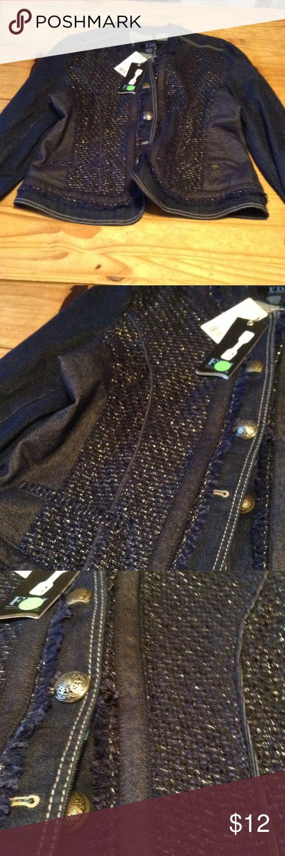 NWT French Dressing Jeans lightweight denim coat Very cute lightweight detailed denim coat. french dressing jeans Jackets & Coats Jean Jackets
