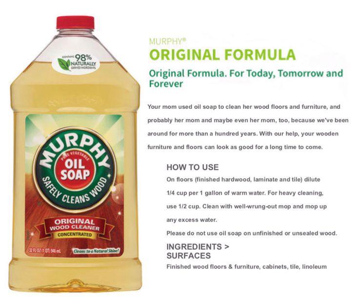 'Murphy® Oil Soap Original Formula...!' (via colgate.com)