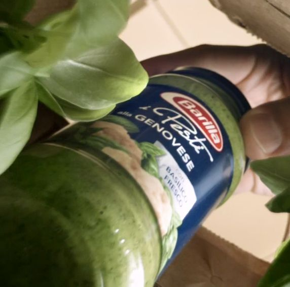 Fresh basil leaves from the lush Italian fields mixed with Pecorino Romano and Grana Padano cheese. It's literally the food of the gods. But now it's available to you from Barilla.