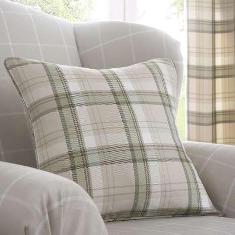 Green Balmoral Checked Cushion