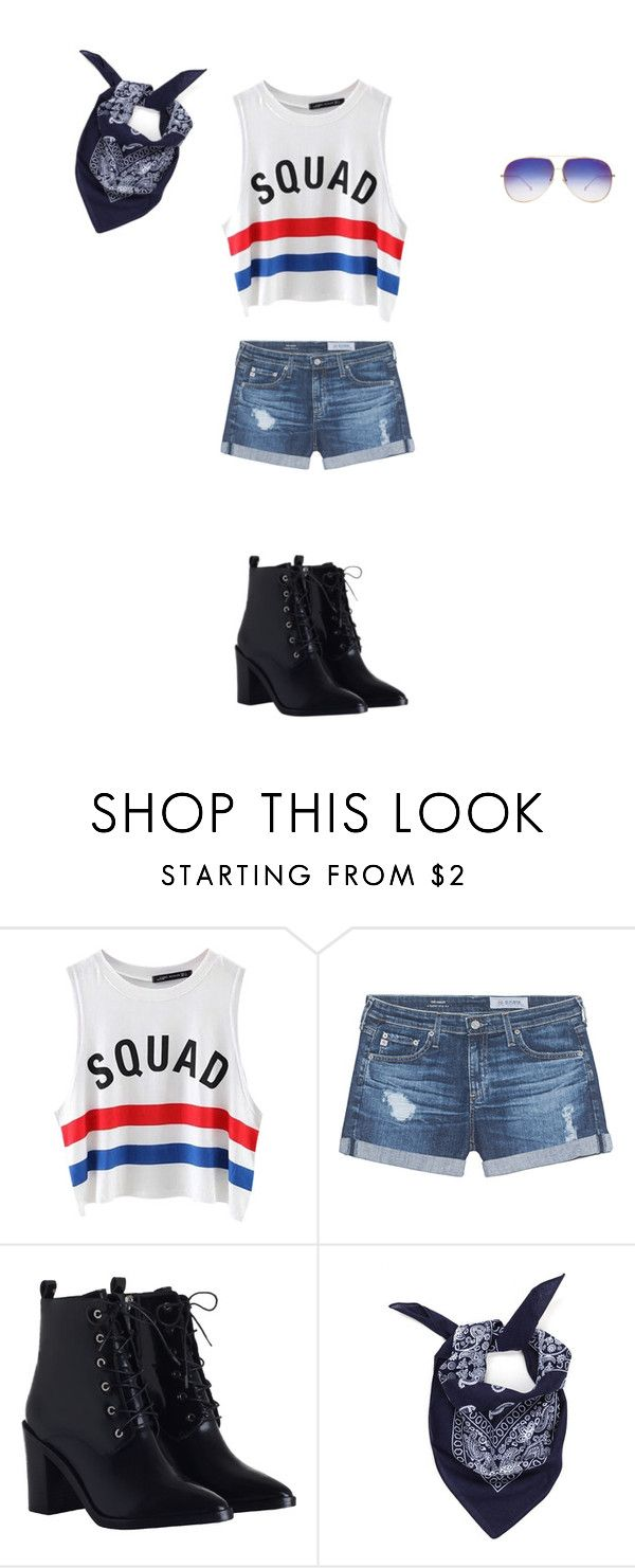 """""""Scuicide Squad"""" by marianakazynski ❤ liked on Polyvore featuring Chicnova Fashion, AG Adriano Goldschmied, Zimmermann and Dita"""