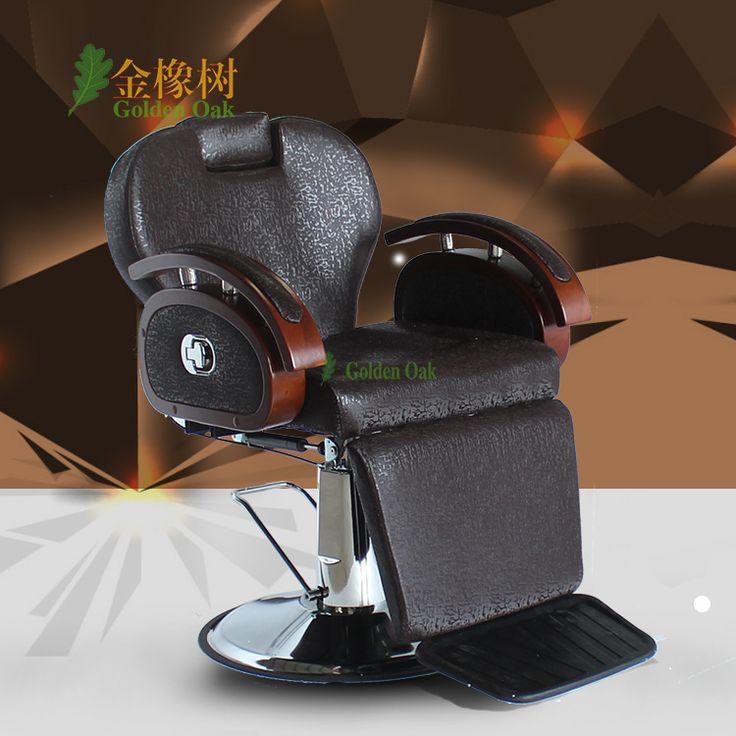 Silla de peluquería. la silla de barbero se puede poner abajo. afeitado salones de belleza peluquería silla corte de pelo