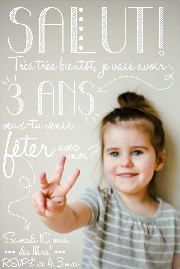 Idée d'invitation anniversaire enfant - 1181 hits