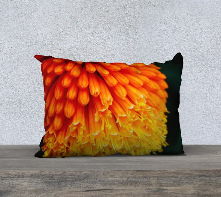 "20""+x+14""+pillow+""Kniphofia+Rooperi""+by+Mixed+Imagery"